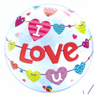 "I Love U Balloon 22"""