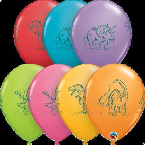 Dinosaur Printed Balloons PKT 5