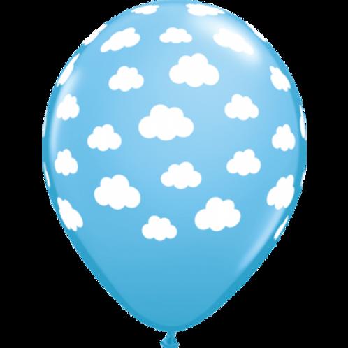 Cloud Print Latex Balloon Pkt 5