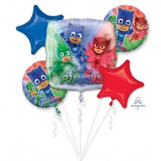 PJ Mask Foil Balloon Bouquet - Pkt of 5 Balloons