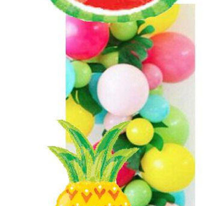 Tropical Balloon Garland Kit & Giant Foil Balloons