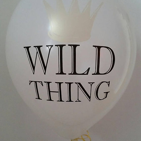 Wild Thing with Gold Crown Balloon 30cm - Pkt of
