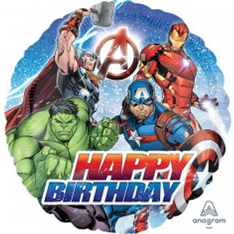 "The Avengers Happy Birthday Balloon - Size 18"""