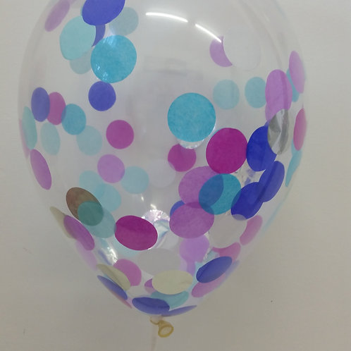 Mermaid Confetti Balloon 30cm Helium filled each + delivery