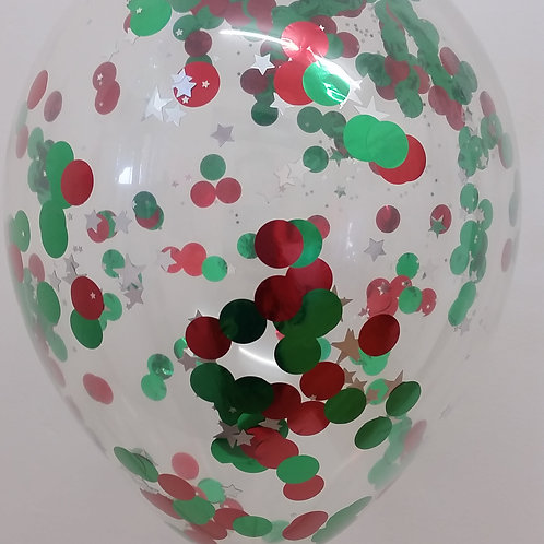 Christmas Confetti Balloon 30cm