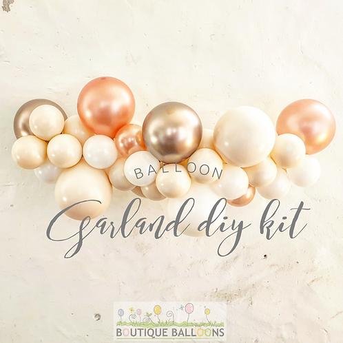 Balloon Garland DIY Blush, Rose Gold, White