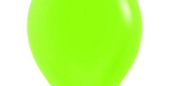 Neon Green Helium Balloon 30cm each