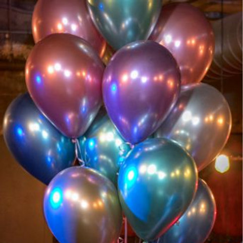 Chrome Balloon Mix - 28cm Pkt of 5
