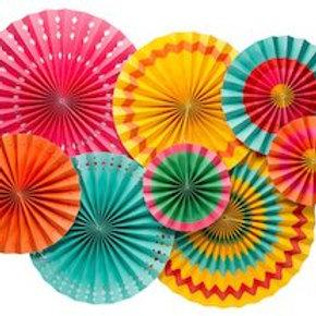 Fiesta Paper Fans
