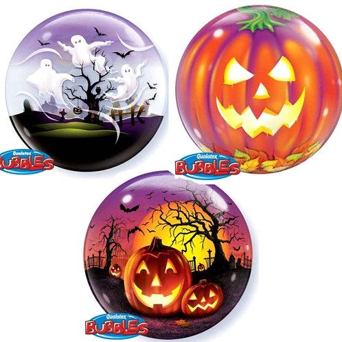 """Halloween Bubble Balloons - 22"""" - Pkt of 1"""