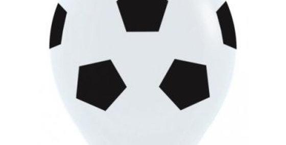 Soccer Print Helium Balloon 30cm