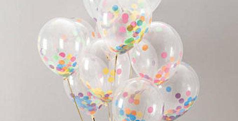 Confetti Balloon - Bright Mix
