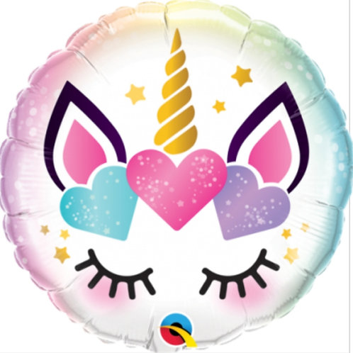 Unicorn Eyelashes Foil Balloon