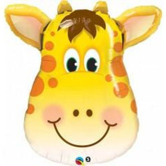 Giraffe Head Foil Balloon - Jungle Party