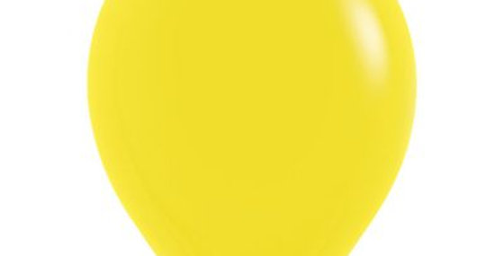 Standard Yellow Helium Balloon 30cm each