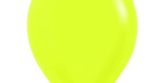 Neon Yellow Helium Balloon 30cm each