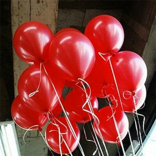 Metallic Red Balloons 30cm - Pkt of 12