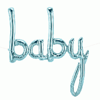 "Baby Pale Blue 46"" airfilling only Foil Balloon"
