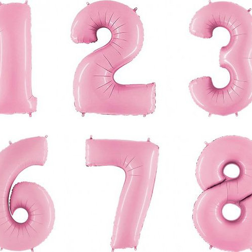 Giant Pink Number Foil Balloon 100cm each