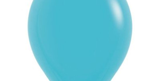 Standard Carribean Blue Helium Balloon 30cm each