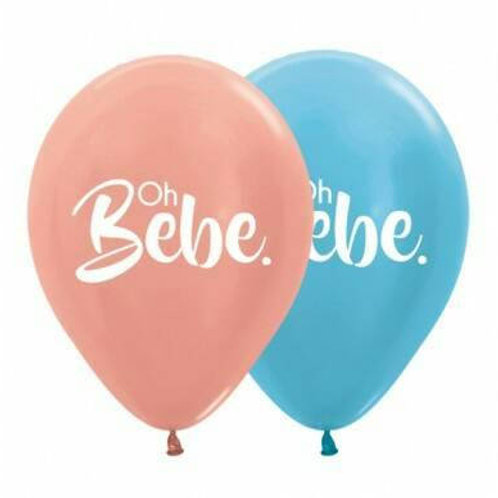 Oh Bebe Printed Balloon 30cm - Pkt of 6