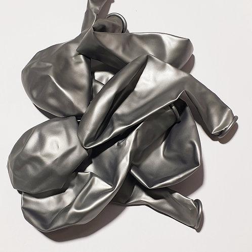 Metallic Silver Balloon - 30cm - each