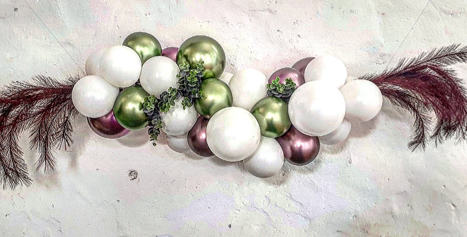 Balloon Garland DIY Kit - Chrome Lime, Pink and White