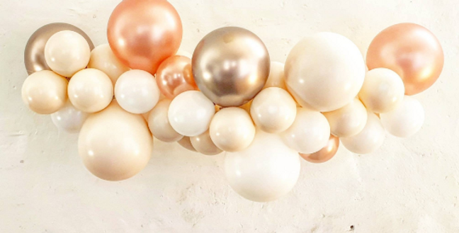 Balloon Garland DIY Kit - Rose Gold, Blush and White