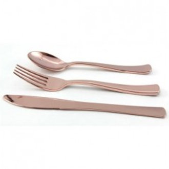 Rose Gold Plastic Cutlery - Pkt of 24