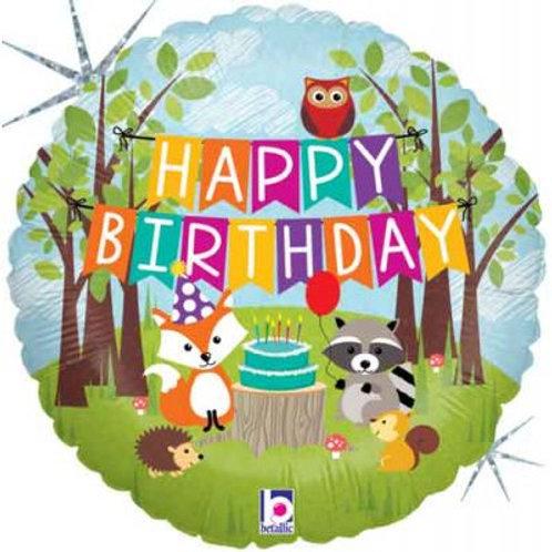 Woodland Happy Birthday Balloon