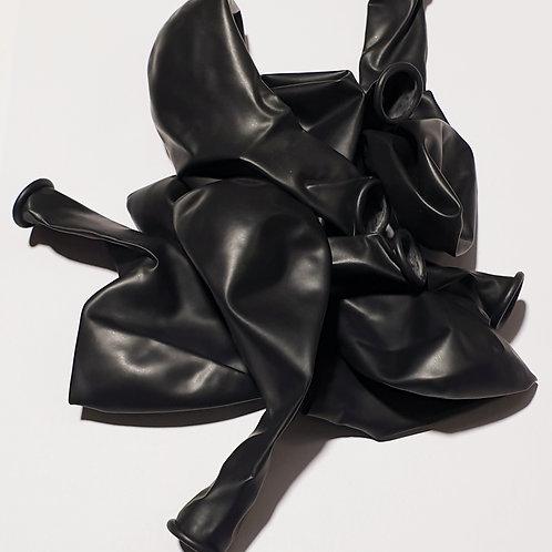 Metallic Black Balloon - 30cm - each