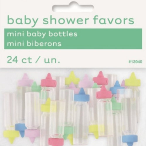 Baby Bottle Mini Favors Pkt 24