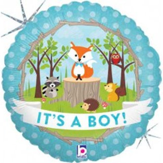 copy of Its a Boy Woodland Foil - 18""