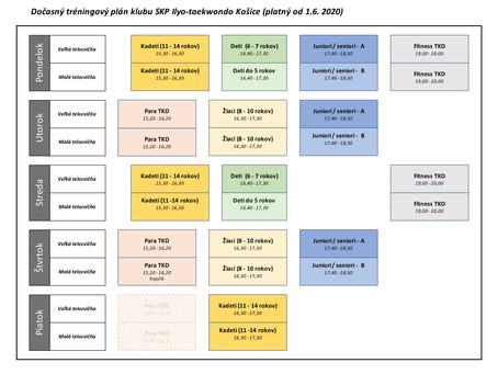 Tréningový plán platný od 1. do 30. júna 2020