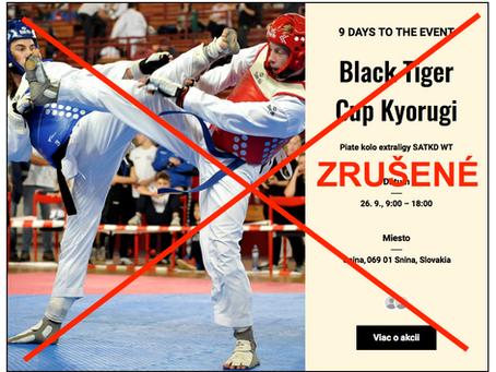 Turnaj Black Tiger Cup v Snine zrušený !!!
