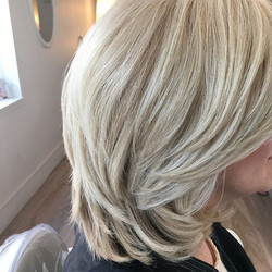 lil fun with icy blonde today!_#mhhairdr