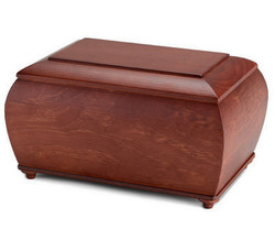 urna de madera