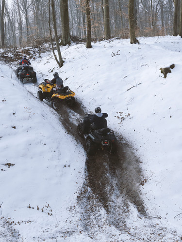 Driving ATV in Snow
