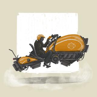 Futuristic Harley Davidson Motorcyle Design