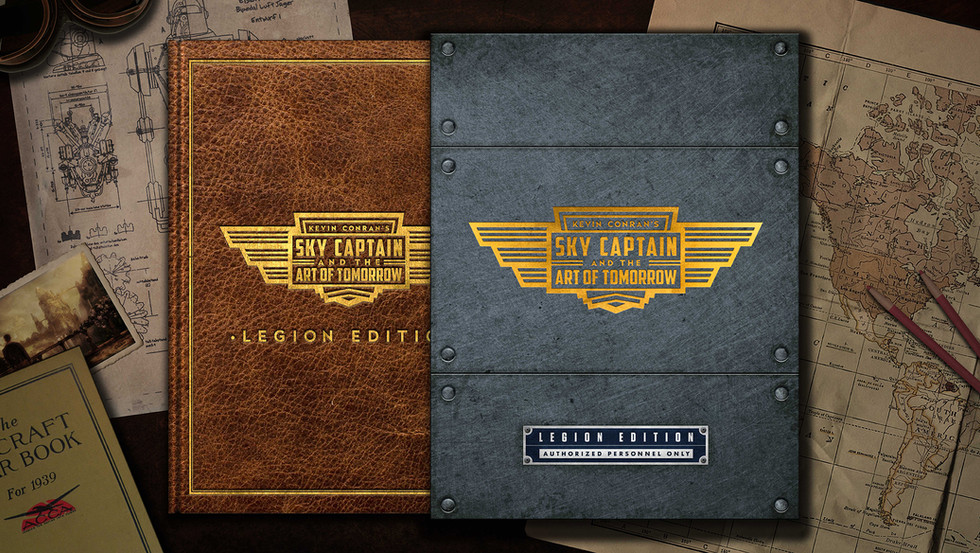 Kevin Conran's Sky Captain & the Art of Tomorrow Deluxe Edition Cover and Slipcase
