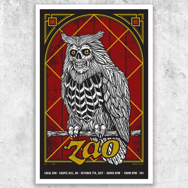 ZAO Screenprinted Poster