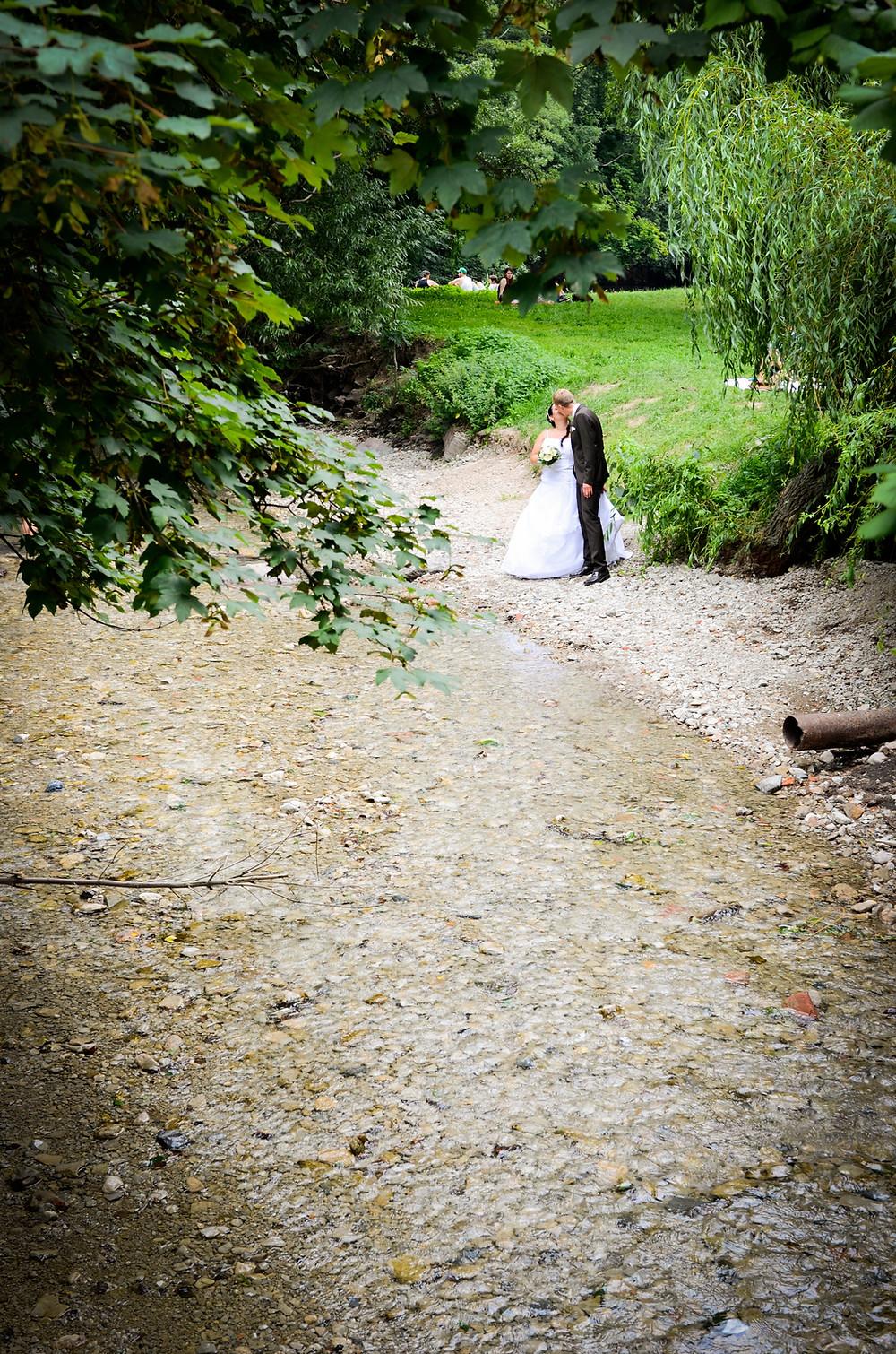 Hochzeitsportrait Jena Park Hochzeitspaar Foto