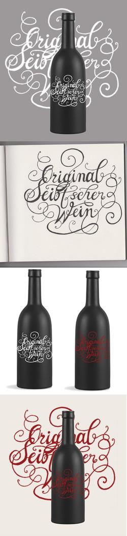 Etikett Kalligraphie Kalligrafie