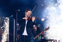 David Garrett in Erfurt spielt Geige