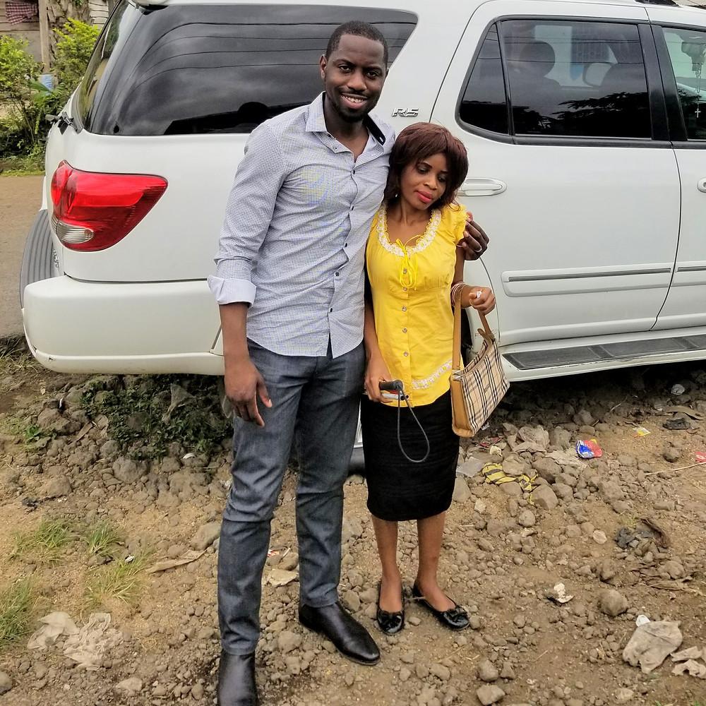 Ed & Ako in Ekona Yard, Cameroon
