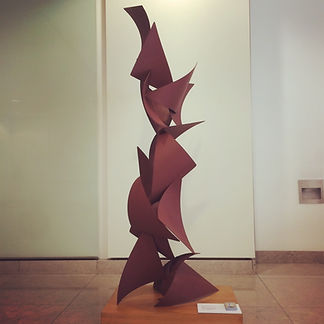 Steel sculture art for offices