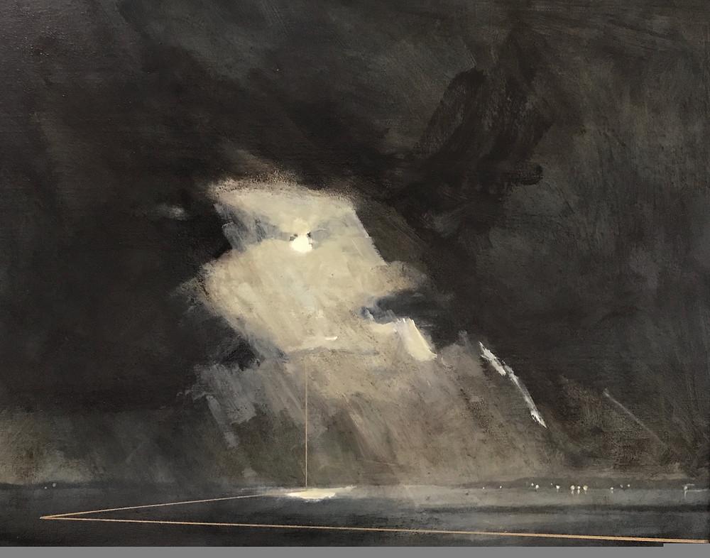 Saul Hay Gallery, Deborah Grice, Nocturnal Storm, painting