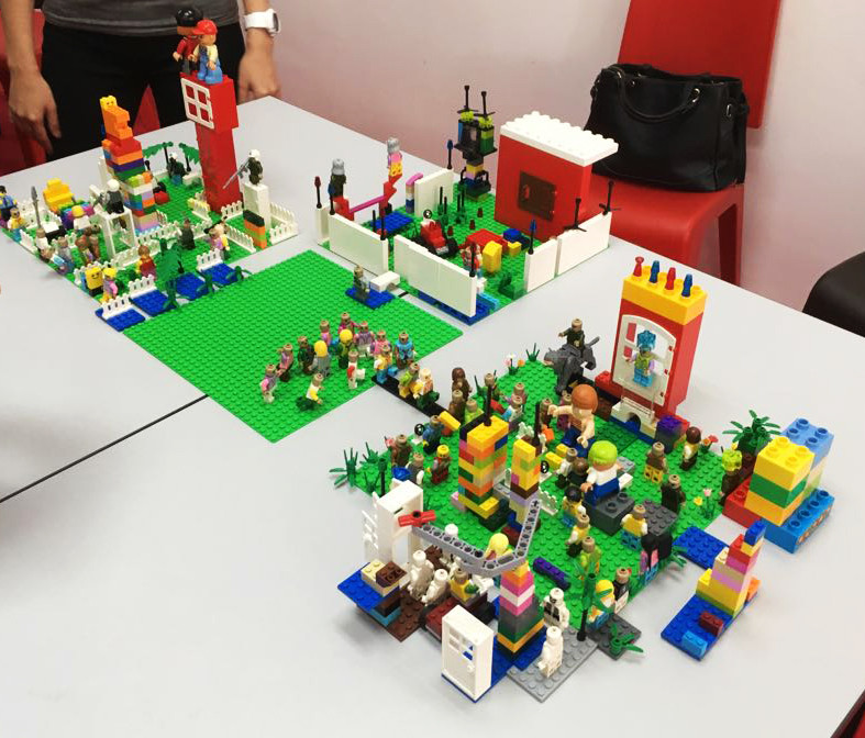 Playing with LEGOs to build a better communication