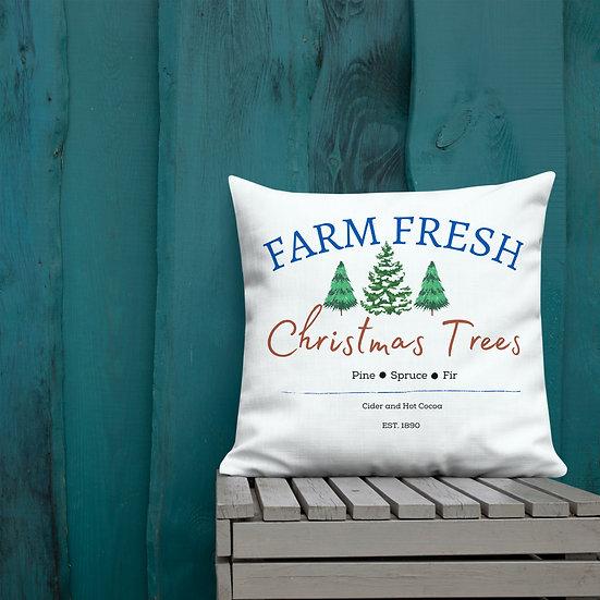 Farm Fresh Christmas Trees Premium Pillow
