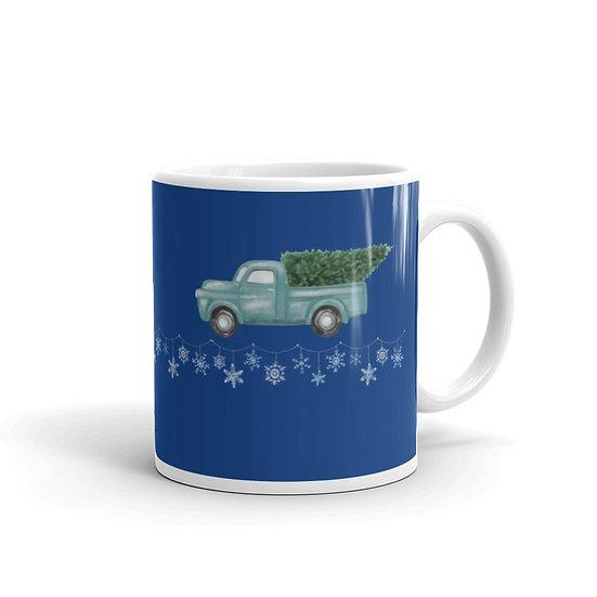 Home for Christmas Blue Ceramic Mug 11 oz copy